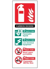 CO2 Carbon Dioxide Extinguisher Identification