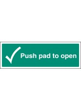 Push Pad to Open