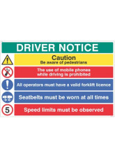 Driver notice Be aware of pedestrian - 5mph…