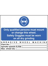 Abrasive Wheel Machine