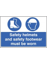 Safety Helmets and Safety Footwear Must be Worn