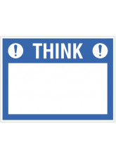 "Small Wipe Clean Board ""Think (Write your Message)"""