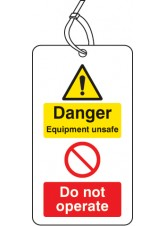 Danger Equipment UnsaFe Do Not Operate D / S Tag (Pack of 10)
