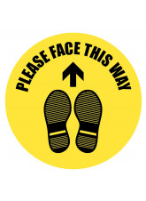 Please Face this Way - Floor Graphic