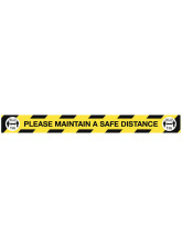 Maintain a Safe Distance Floor Graphic - 1m / 2m / Generic Distance Options