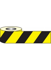 Anti Slip Tape - Black/Yellow Hazard - 18m x 50mm