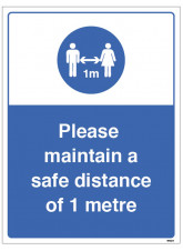 Keep a Safe Distance - 1m / 2m / Generic Distance Options